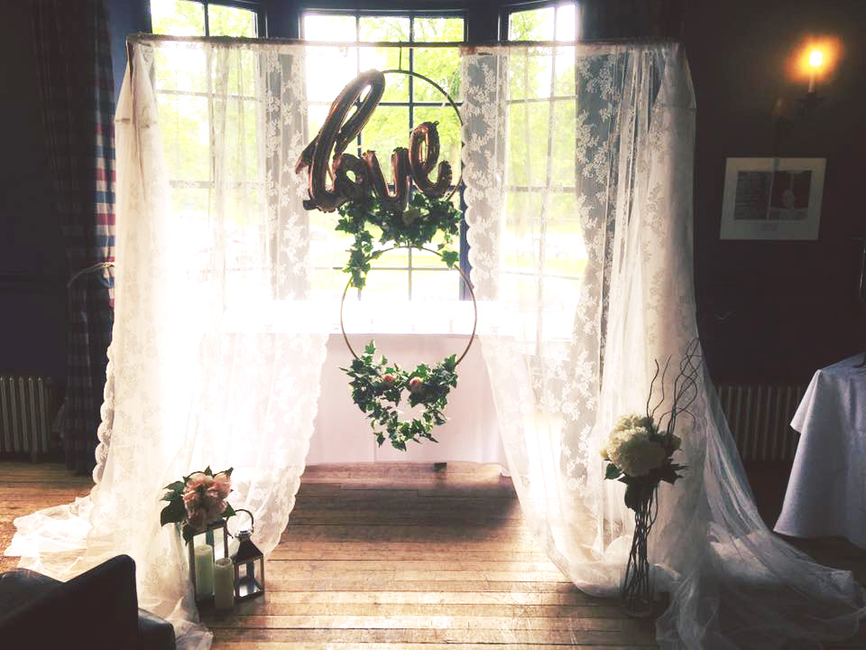 Ceremony Archway by Yorkshire Rose Wedding Hire