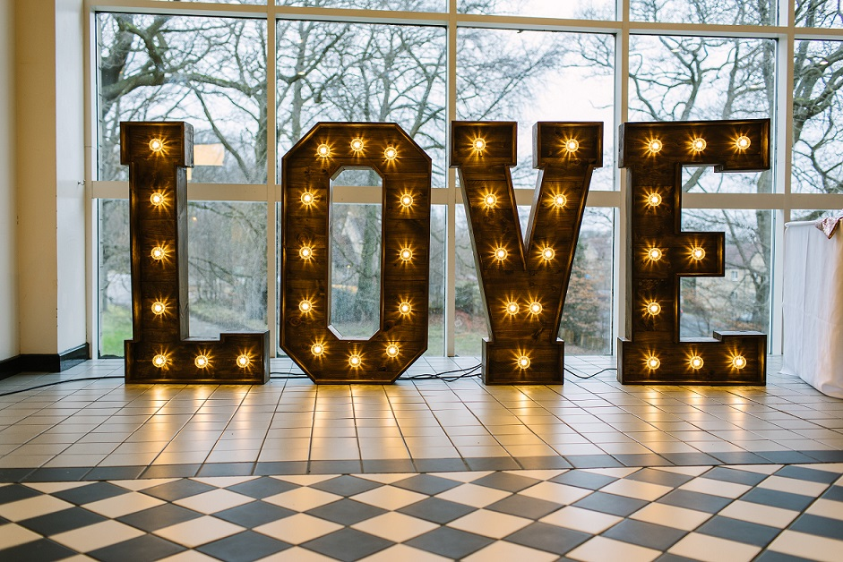 LOVE Letters by Yorkshire Rose Wedding Hire