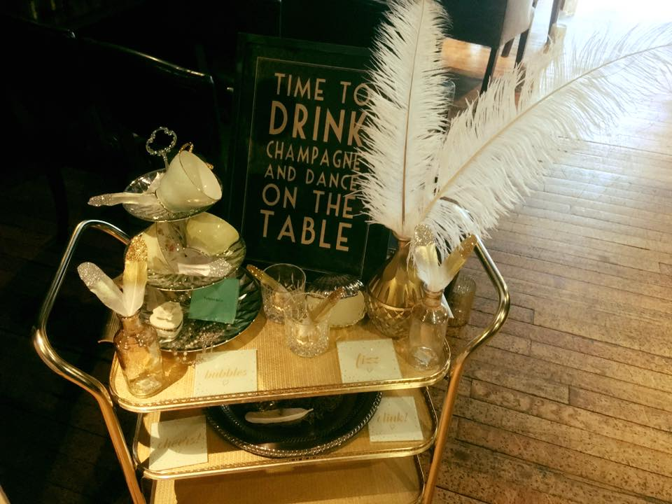 Vintage Tea Trolley Styling by Yorkshire Rose Wedding Hire